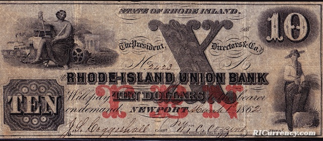 Rhode Island Union Bank $10