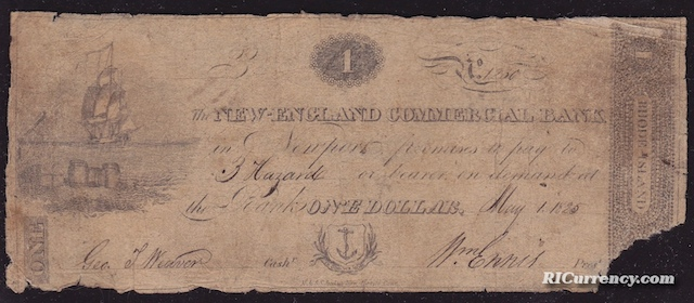 New England Commercial Bank $1
