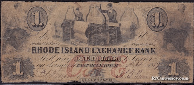 Rhode Island Exchange Bank $1