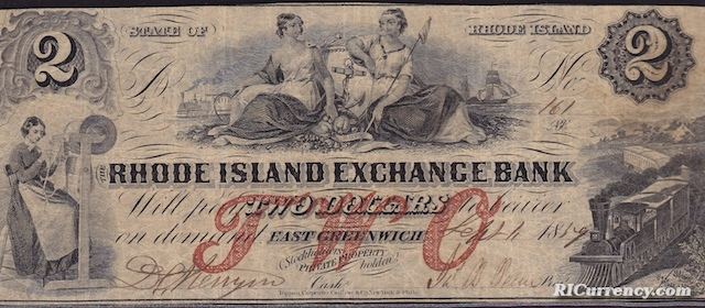 Rhode Island Exchange Bank $2