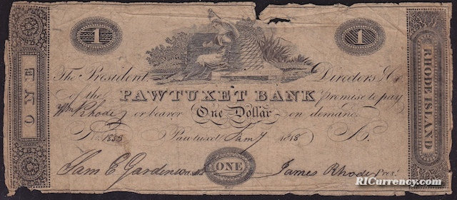 Pawtuxet Bank $1