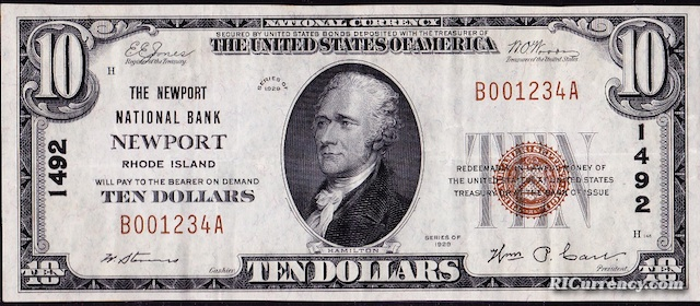 Newport National Bank $10