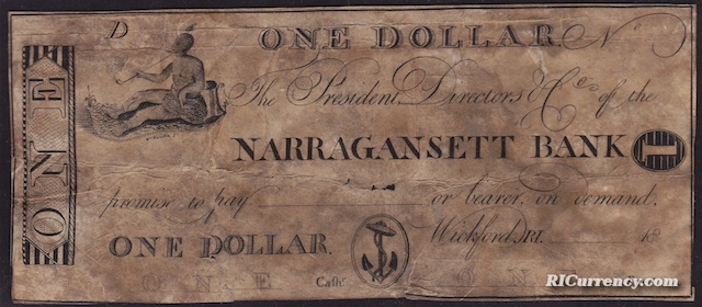 Narragansett Bank $1