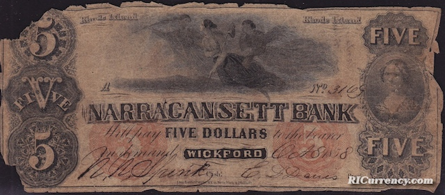 Narragansett Bank $5