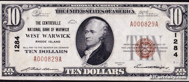 Centreville National Bank $10