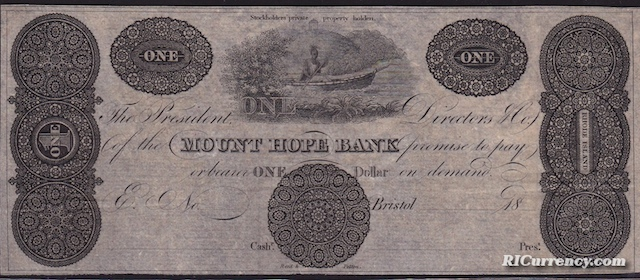 Mount Hope Bank $1