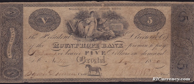 Mount Hope Bank $5