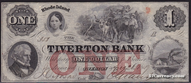 Tiverton Bank $1