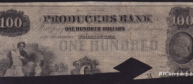 Producers Bank $100
