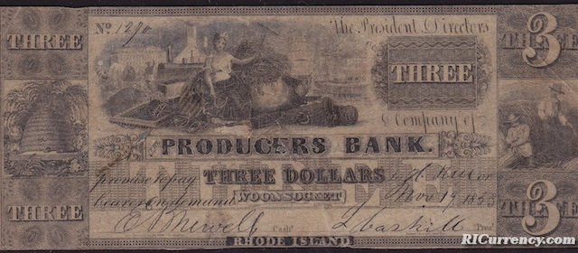 Producers Bank $3
