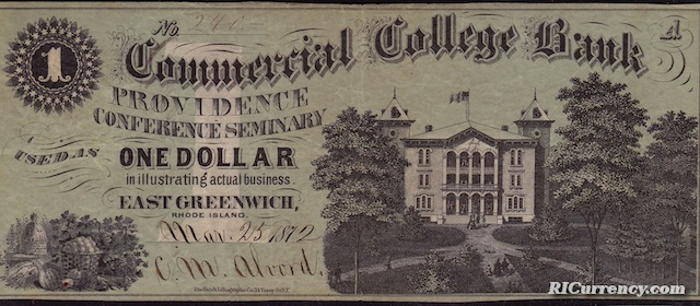 Commercial College Bank $1