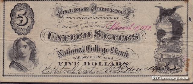 National College Bank $5