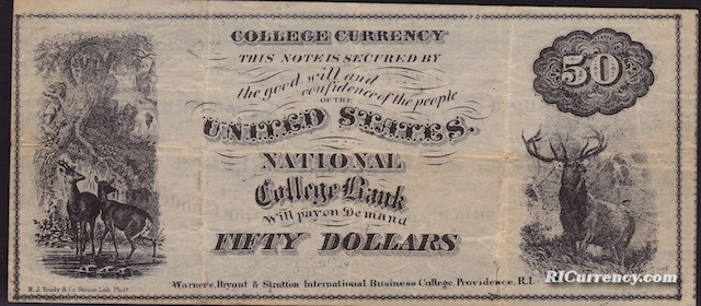 National College Bank $50