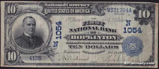 First National Bank of Hopkinton $10