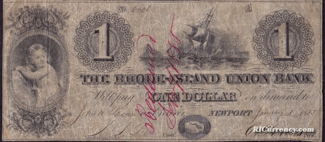 Rhode Island Union Bank $1