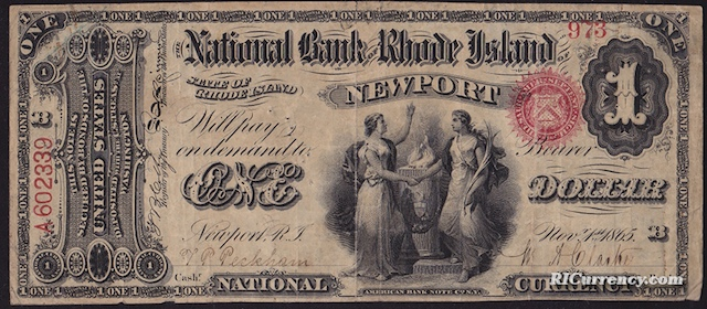 National Bank of Rhode Island $1