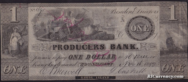 Producers Bank $1