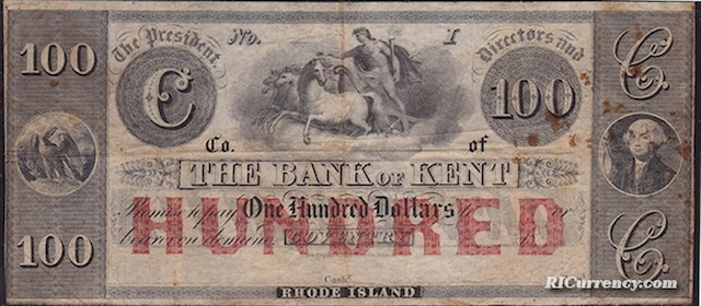 Bank of Kent $100