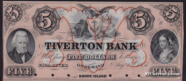 Tiverton Bank $5