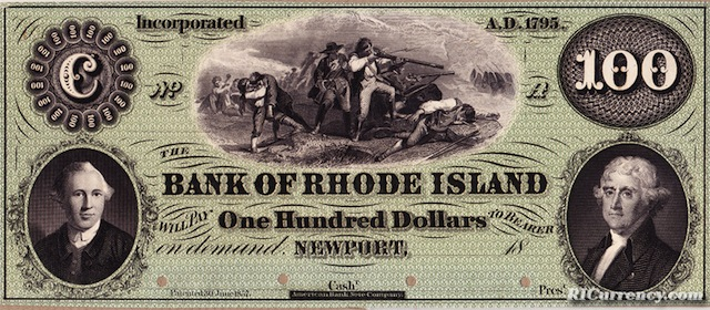 Bank of Rhode Island $100