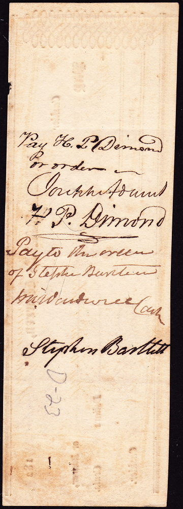 Reverse of check.