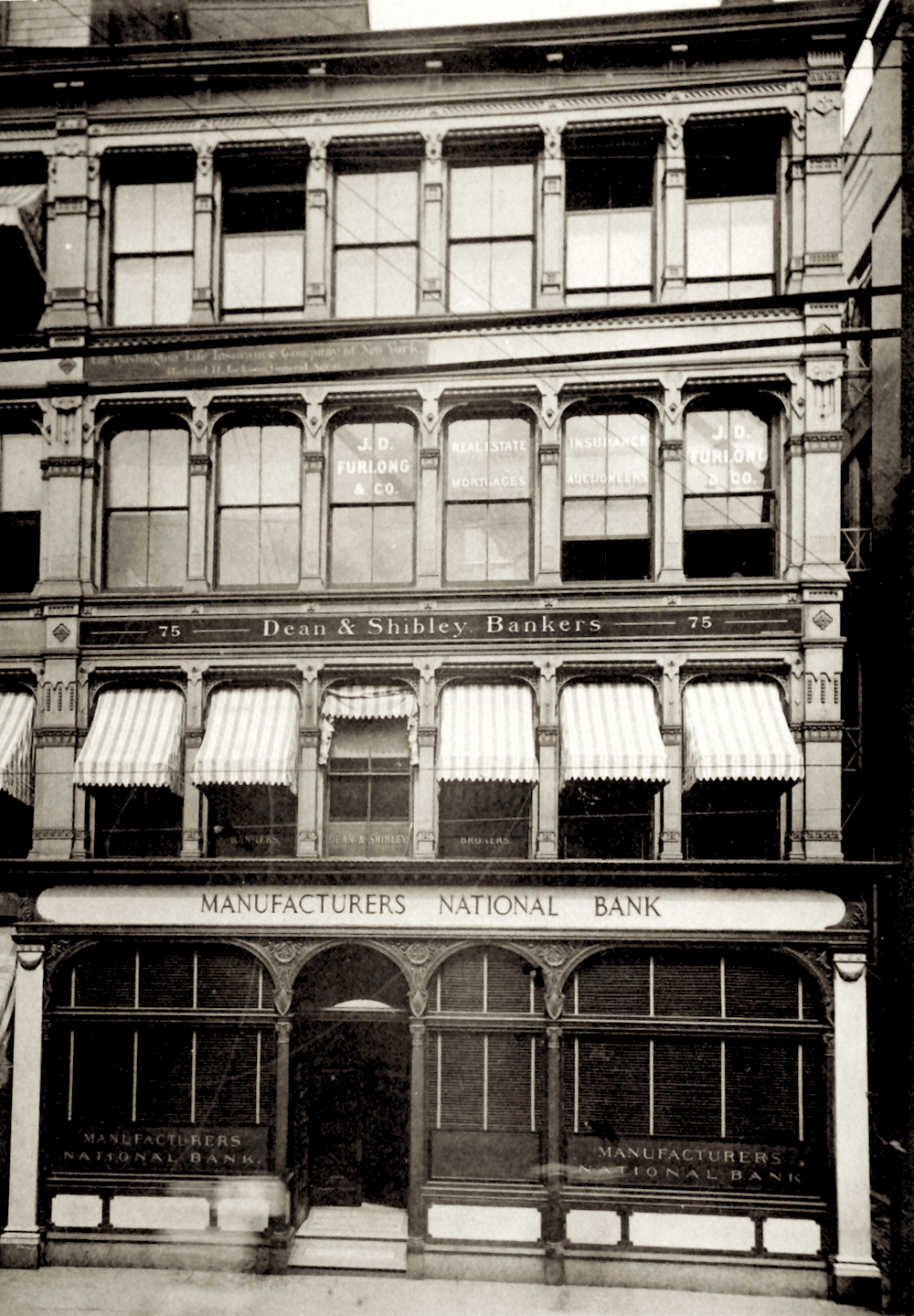 The Manufacturers National Bank offices in the ground floor