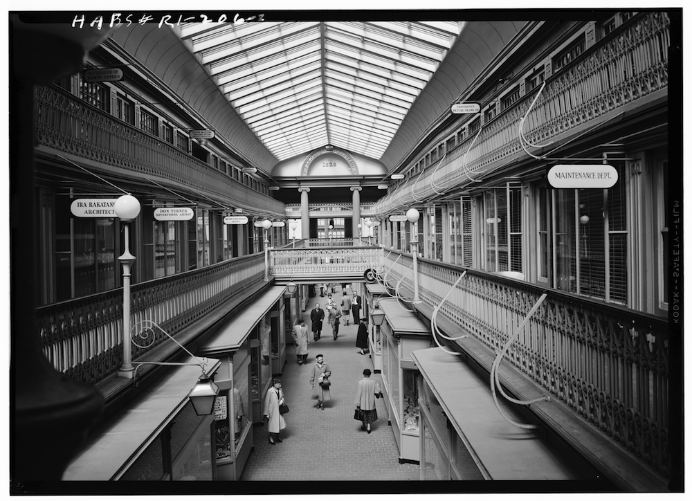Interior of the Arcade, 1958. (Source: Library of Congress.)