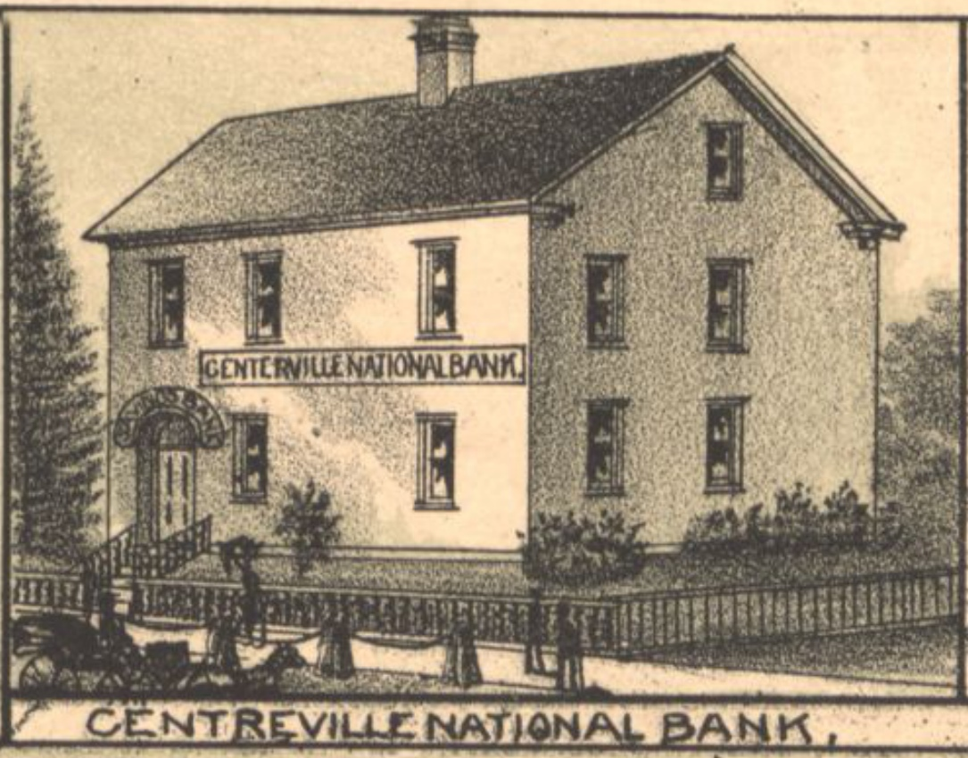 A detail of a map of Centreville shows the bank's former home.