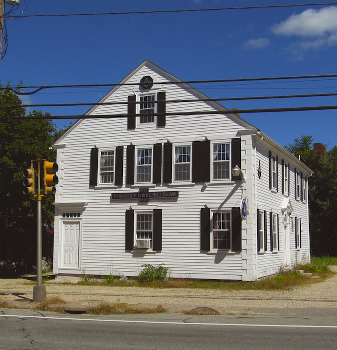 The bank's former location still functions as a lodge today, known as Friendship Lodge #7.