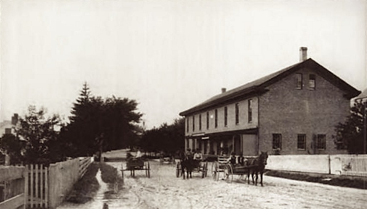A 19th century photo of Barber's Hall, the bank's home in Hope Valley.