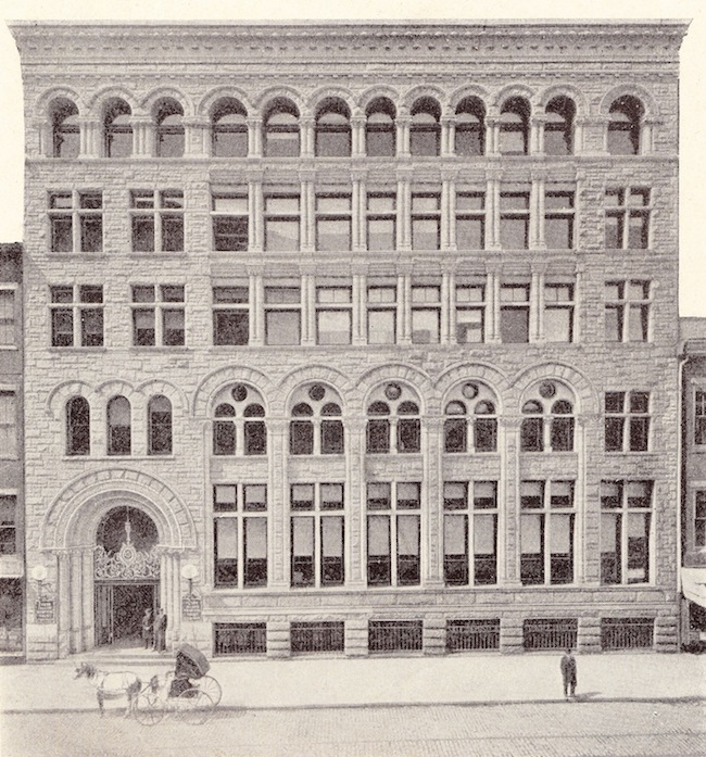 The building after its 1902 expansion.