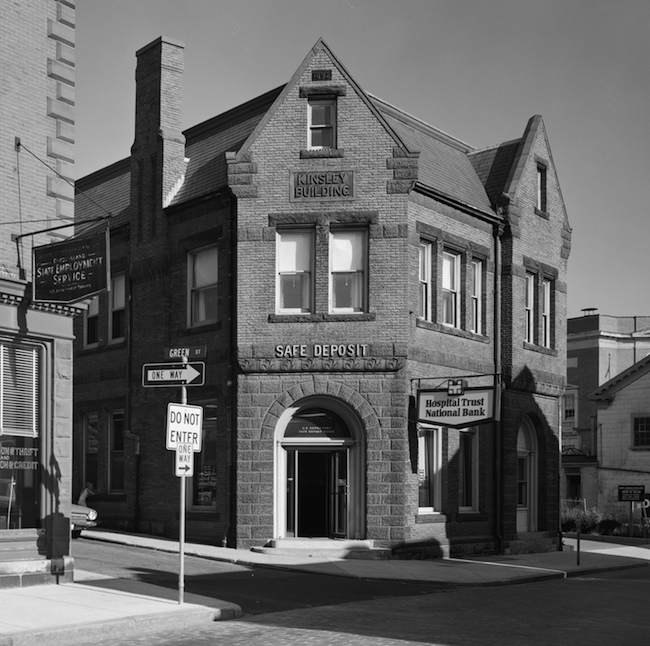 Hospital Trust's branch on Thames Street in Newport, 1972. This was the former home of the Aquidneck National Bank.