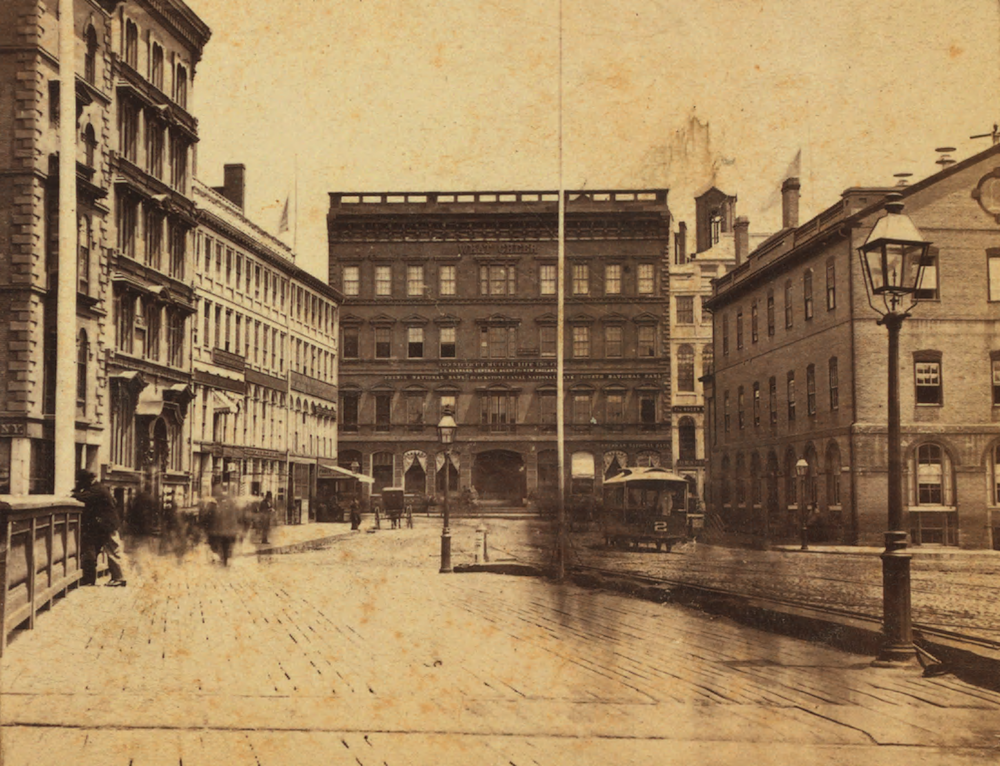 A wider view of Market Square in the late 19th century (Source: Wikipedia.)