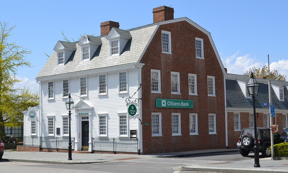 The Newport Bank's original home, now a local branch of Citizens Bank.