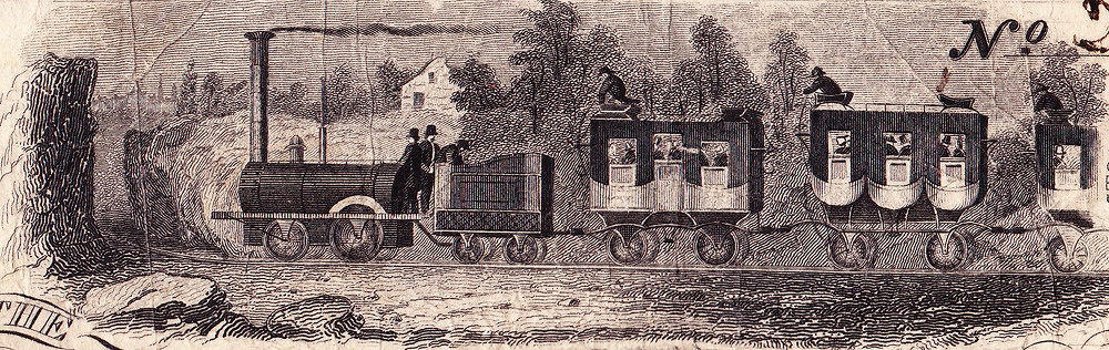 The DeWitt Clinton (named after New York's governor) was an early steam locomotive.