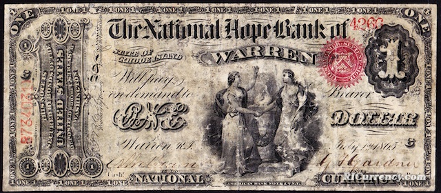 National Hope Bank $1