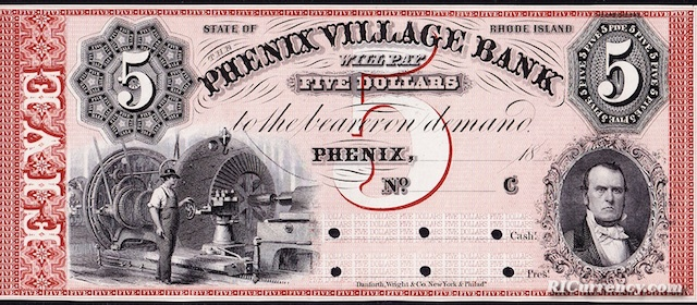Phenix Village Bank $5