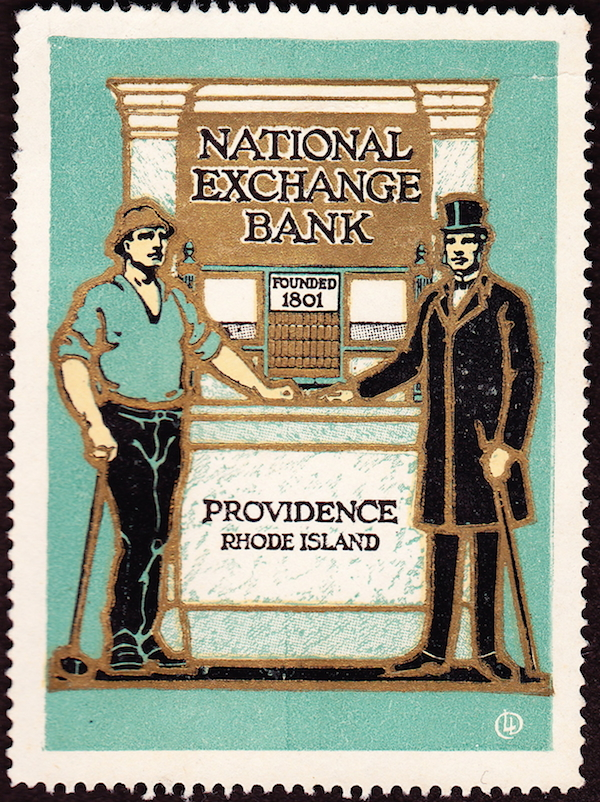 A vintage stamp from the bank.