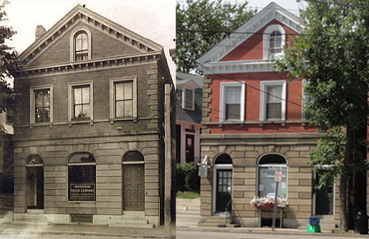 Located at 13 West Main Street, this lot was once home to the Narragansett Bank and when that financial institution became the Wickford National Bank, it continued to occupy this space. The building above dates from 1870. The previous structure was destroyed by an explosion and fire during an attempted robbery. Later, this building housed the local newspaper The Standard Times (now closed).