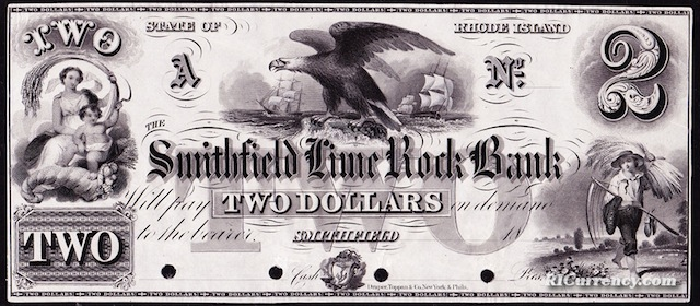 Smithfield Lime Rock Bank $2