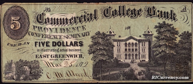 Commercial College Bank $5