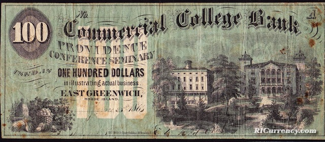 Commercial College Bank $100