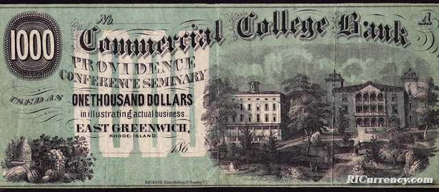 Commercial College Bank $1000