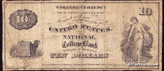 National College Bank $10
