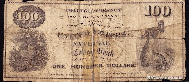 National College Bank $100