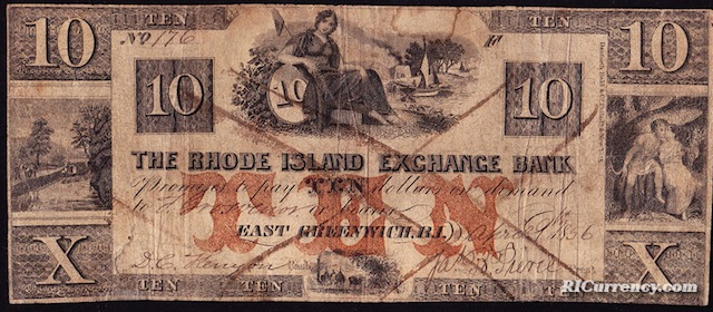 Rhode Island Exchange Bank $10