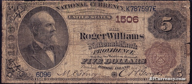 Roger Williams National Bank $5