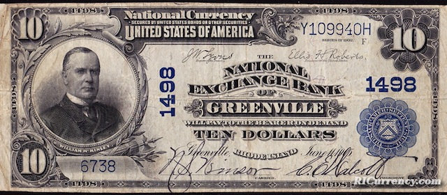 National Exchange Bank of Greenville $10