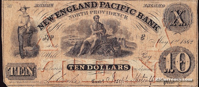 New England Pacific Bank $10