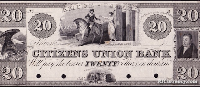 Citizens Union Bank $20